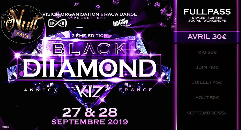 BLACK Diamond II – Annecy Kizomba + NUIT Salsa Bachata